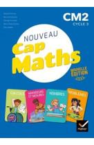 Cap maths cm2 - ed. 2021 - livre eleve nombres et calculs  + cahier geometrie + dico maths