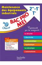 Objectif bac - fiches bac pro mei - maintenance des equipements industriels : 80 fiches, 120 qcm