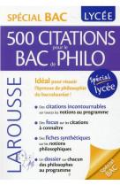 500 citations pour le bac de philo