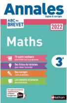 Annales brevet 2022 maths - non corrige