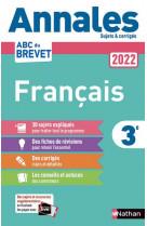 Annales brevet 2022- francais - corrige