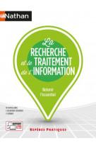 La recherche et le traitement de l-information - reperes pratiques numero 25 - 2021