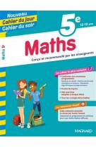 Cahier du jour/cahier du soir, maths 5e