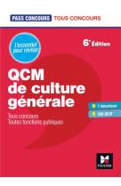Pass-concours - qcm de culture generale - tous concours - revision et entrainement
