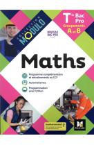 Modulo - maths - tle bac pro groupements a et b - ed. 2021 - livre eleve