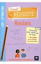 Carnet de reussite - anglais - cap 2de bac pro  - ed. 2021 - livre eleve