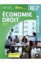 Ressources plus - economie-droit - 2de bac pro - ed. 2021 - livre eleve