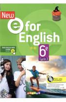 New e for english 6eme - edition 2021 - livre