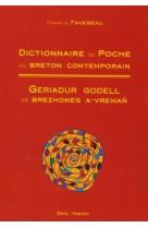 Dictionnaire de poche du breton contemporai n geriadur godell ar brezhoneg a vreman