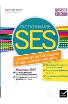 Dico ses - dictionnaire d-economie et de sciences sociales - ed. 2020