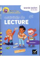 Chouette maternelle activites de lecture grande section