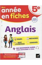 Anglais 5e - fiches de revision & exercices